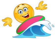 Surfing emoticon Stock Image
