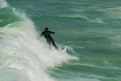Surfing in Euskadi Stock Photography