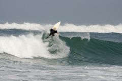Surfing france Stock Photography
