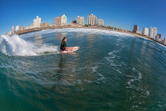 Surfing Girl Water Bottom Turn Stock Photography