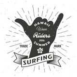 Surfing Hand Poster Royalty Free Stock Photos