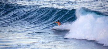 Surfing at Ho`okipa Stock Photo
