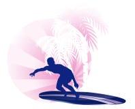 Surfing icon Stock Photo