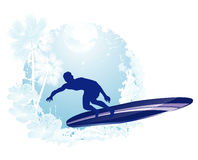 Surfing icon Royalty Free Stock Photography