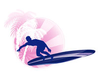 Surfing icon Royalty Free Stock Images