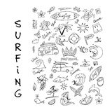 Surfing icons collection for your design Royalty Free Stock Photo