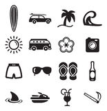 Surfing Icons Stock Image