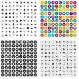 100 surfing icons set vector variant. 100 surfing icons set vector in 4 variant for any web design isolated on white Royalty Free Stock Image