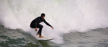 Surfing at Imperial Beach California Royalty Free Stock Photo