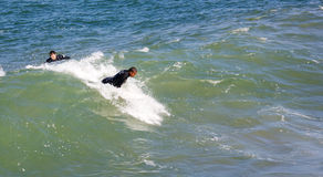 Surfing at Imperial Beach California Royalty Free Stock Photos