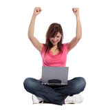 Surfing the internet Stock Images