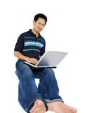 Surfing the internet Royalty Free Stock Photo