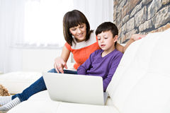 Surfing internet Stock Images