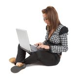 Surfing the internet Stock Image