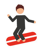 surfing  isolated icon design Royalty Free Stock Photos
