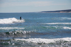 Surfing in Kalbarri: Blue Holes Beach Royalty Free Stock Photography