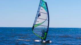 Surfing Lake Superior. Windsurfing Lake Superior near Washburn Royalty Free Stock Image