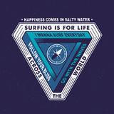 SURFING IS FOR LIFE ACROSS THE WORLD Royalty Free Stock Photo