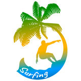 Surfing logo royalty free stock images