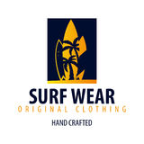 Surfing logo and emblems for Surf Club or shop. Vector illustration. Royalty Free Stock Photography