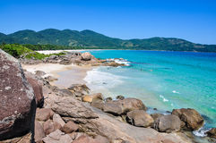 Surfing at Lopes Mendes Beach, Brazil, Rio do Janeiro. South America. Latin America Stock Photography