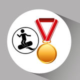 Surfing medal sport extreme graphic Stock Photos