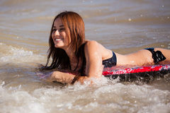 Surfing is so much fun! Stock Photography