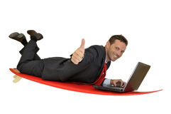 Surfing in the net Stock Photography