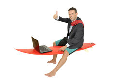 Surfing in the net Stock Image