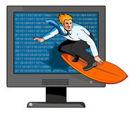 Surfing the net. Concept on surfing the internet royalty free illustration