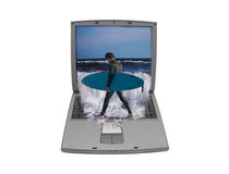 Surfing the net Stock Photos