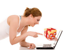 Surfing the net Royalty Free Stock Photos