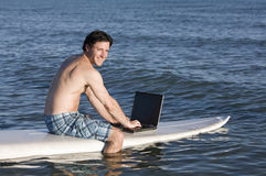 Surfing the Net Stock Photography