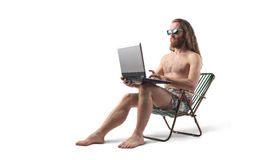 Surfing the net Royalty Free Stock Photo