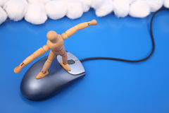 Surfing the net Stock Photo