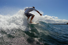Surfing Off The Top Royalty Free Stock Images