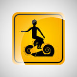 Surfing person sign sport extreme design Stock Images