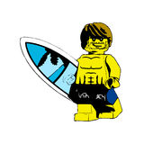 Surfing!. Picture in lego character ready for surfing Stock Photos