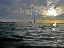 Surfing in playa Tamarindo royalty free stock image