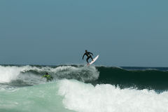 Surfing in Portugal IV Royalty Free Stock Photography