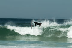 Surfing in Portugal III Royalty Free Stock Photography