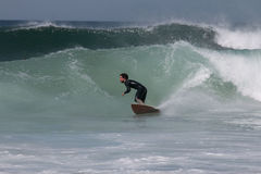 Surfing in Portugal Stock Image