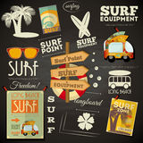 Surfing poster Chalkboard Design Royalty Free Stock Photos