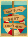Surfing poster Stock Photo
