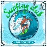 Surfing poster Stock Image