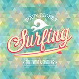 Surfing poster. Stock Photo
