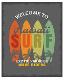 Surfing Print Or Poster Royalty Free Stock Image