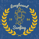 Surfing - Print for t-shirt in custom colors Stock Photos