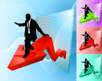 Surfing the profit line Stock Images