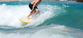 Surfing in Puerto Rico Stock Images